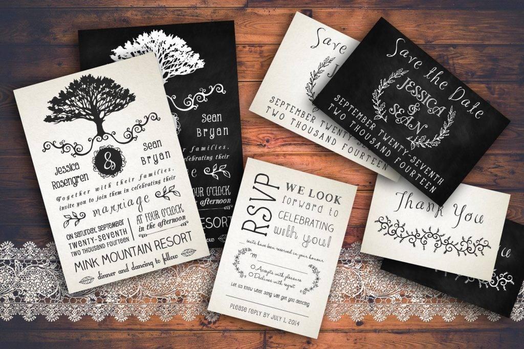 rustic wedding invitation pack example