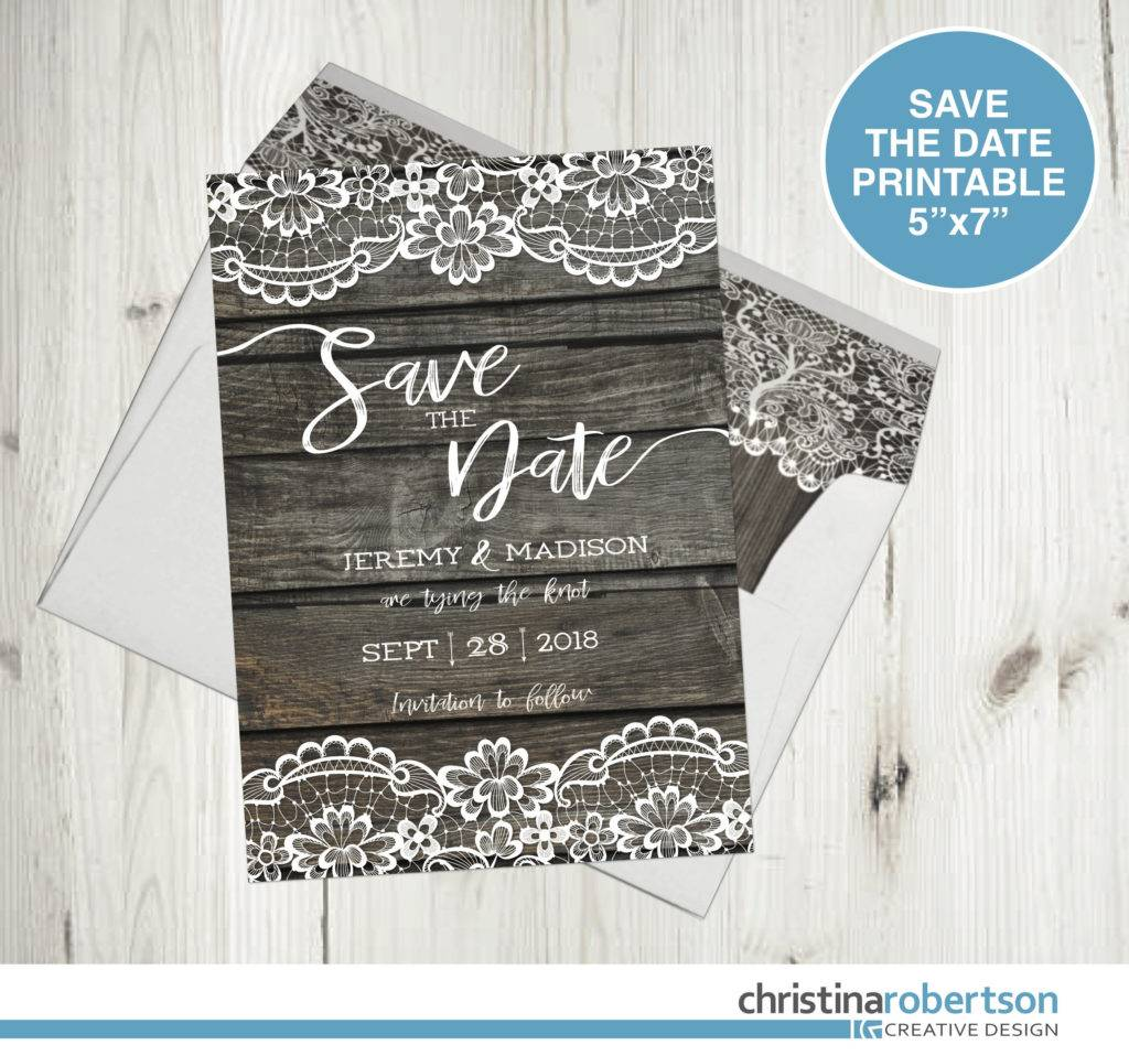rustic wood save the dates example