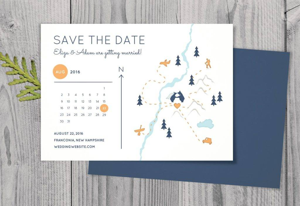 rustic and simple save the date example