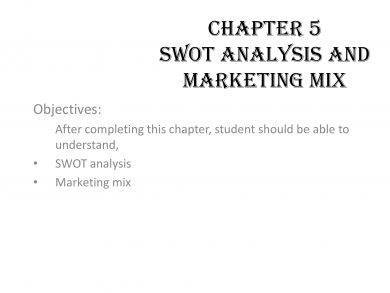 swot analysis and marketing mix example