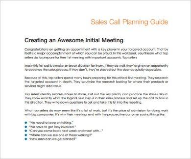 sales call planning guide example1
