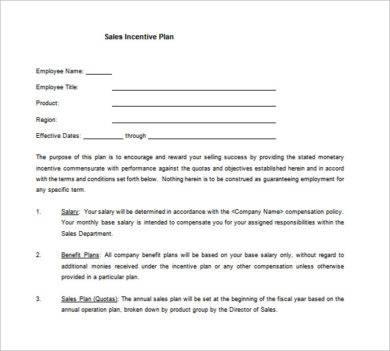 sales incentive plan example1