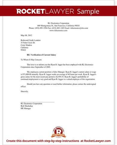 sales manager proof of income letter example1