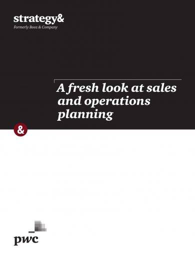 sales and operations planning with strategies example