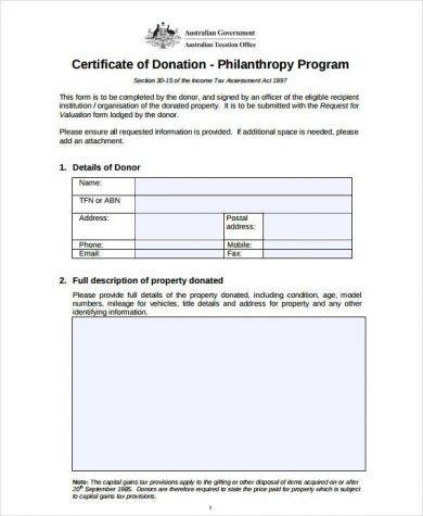 sample certificate of donation2