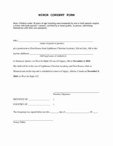 17 Authorization Letter For A Child To Travel Examples Pdf