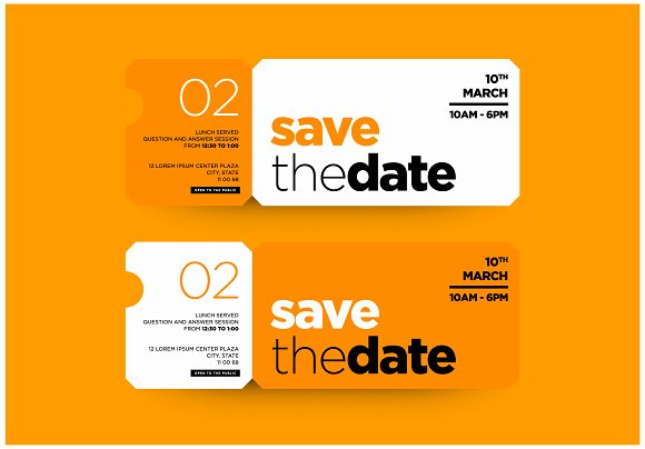 save the date invitation design example