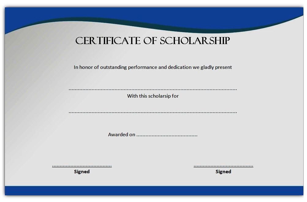 10 Scholarship Award Certificate Examples Pdf Psd Ai