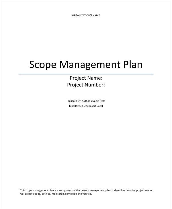 scope management plan example