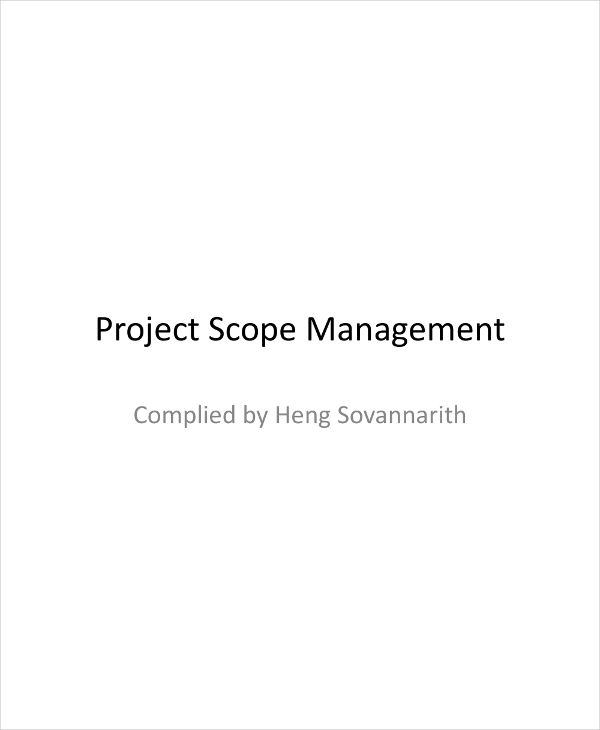 scope management plan with guidelines example