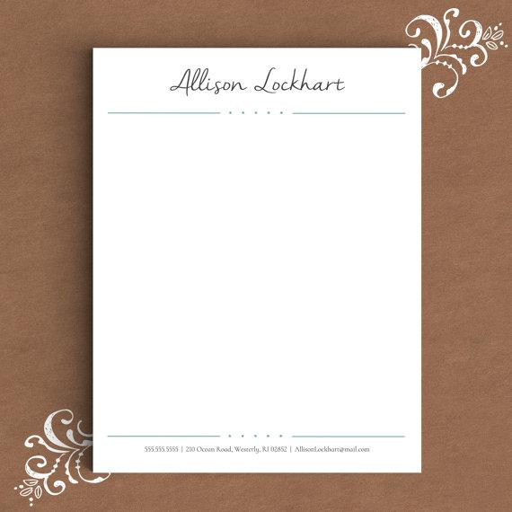 script personal letterhead example