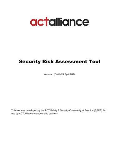 security risk assessment tool example
