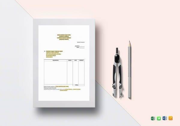service invoice template1