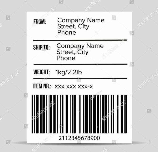 shipping barcode label vector example
