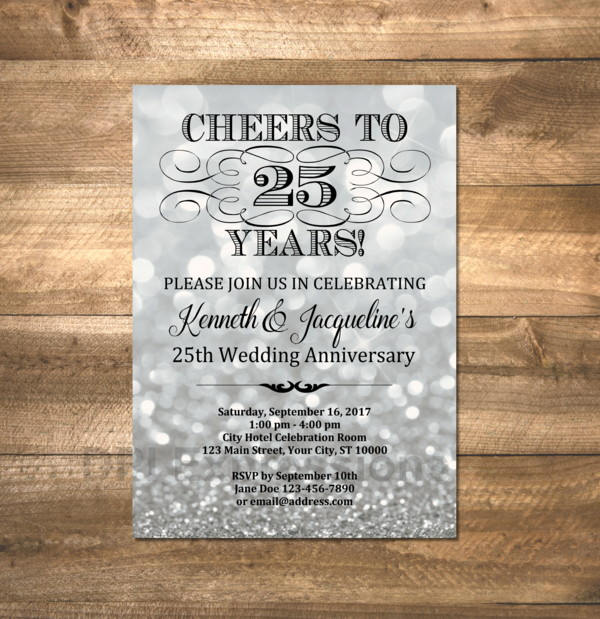 silver wedding anniversary announcement example