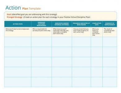 simple action plan template example1