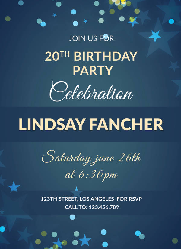 simple birthday invitation template
