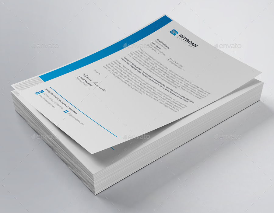 simple company letterhead example
