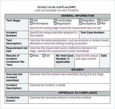 Simple Corrective Action Plan Example
