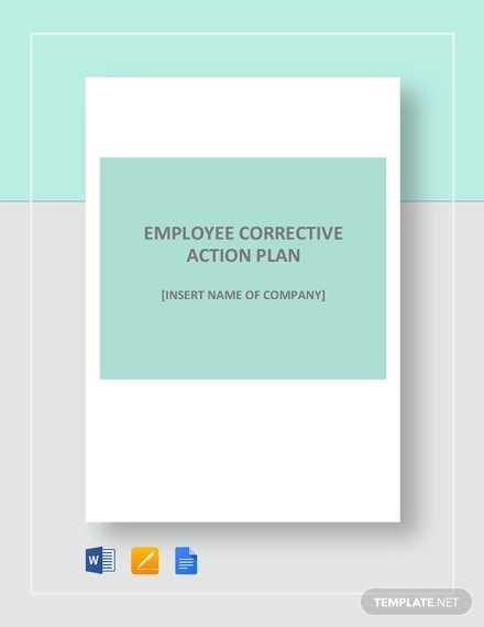 simple employee corrective action plan example