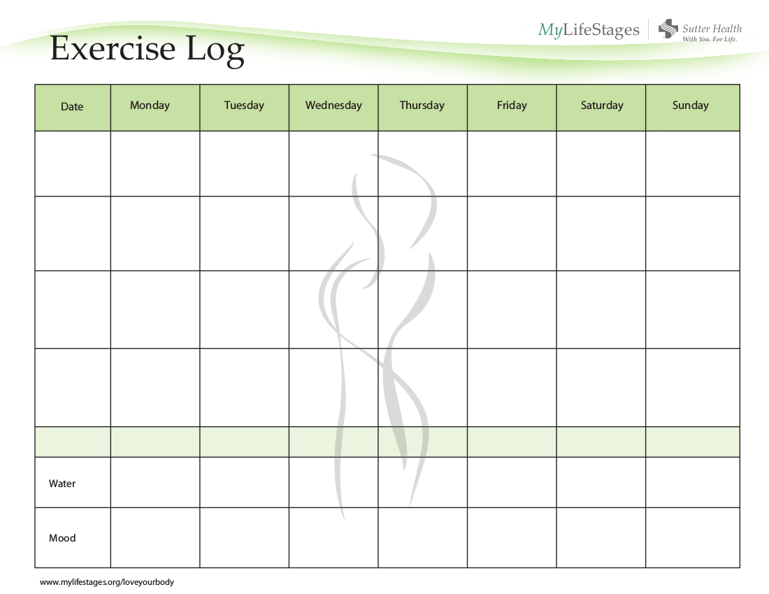8 workout log examples pdf