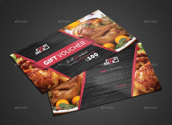 simple food payment gift voucher example