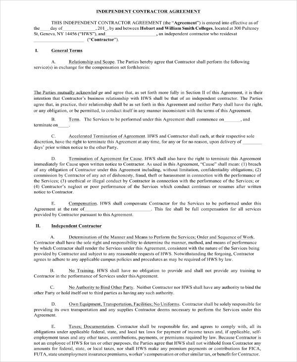 18 Contractor Agreement Examples Pdf Word Docs Examples