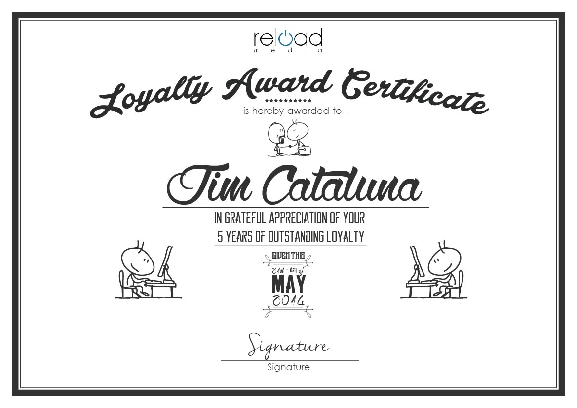9  loyalty award certificate examples