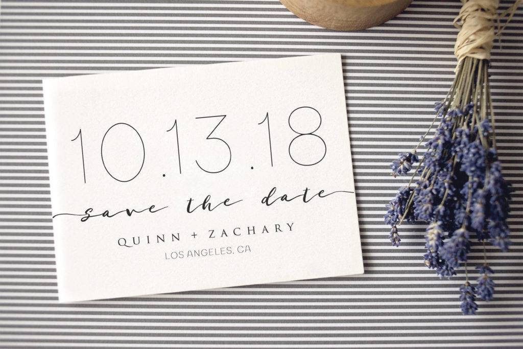 simple modern wedding announcement example