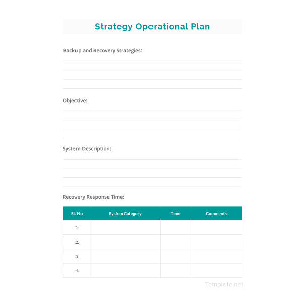 simple operational plan template example