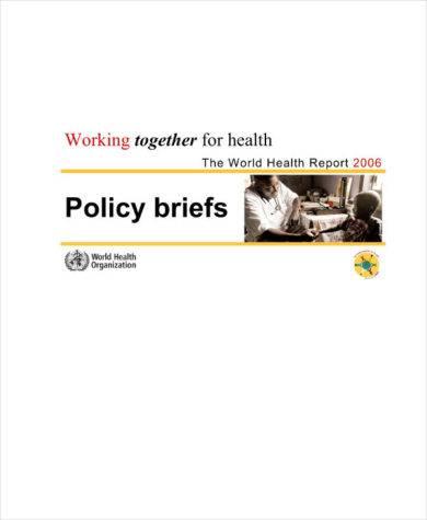 simple policy brief example1