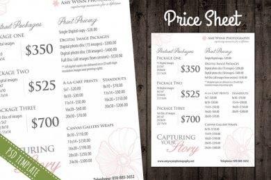 simple price list template1