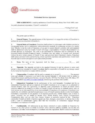 simple professional services agreement example