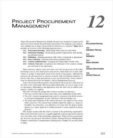 simple project procurement management plan example1