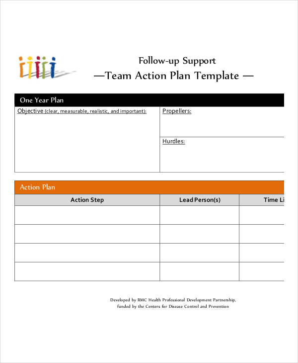 Team Action Plan Examples In PDF - Simple action plan template