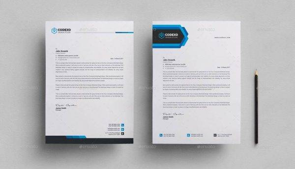 simple and formal letterhead