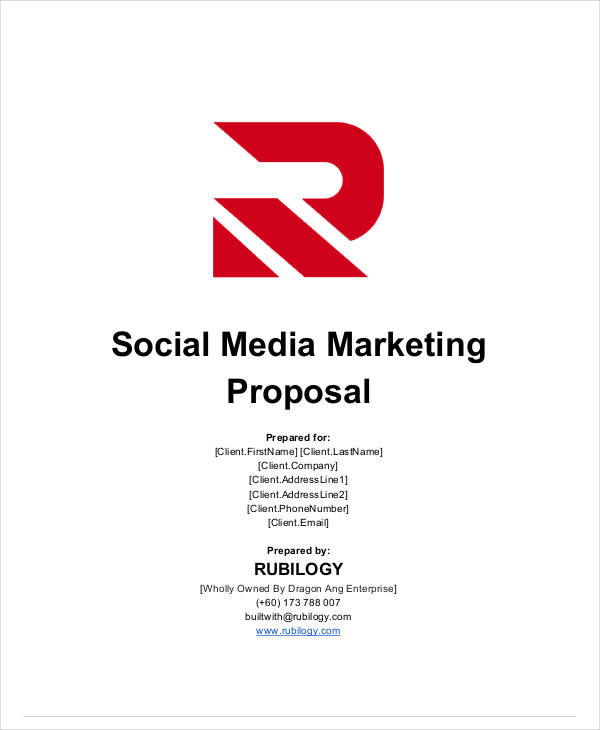 social media marketing proposal sample