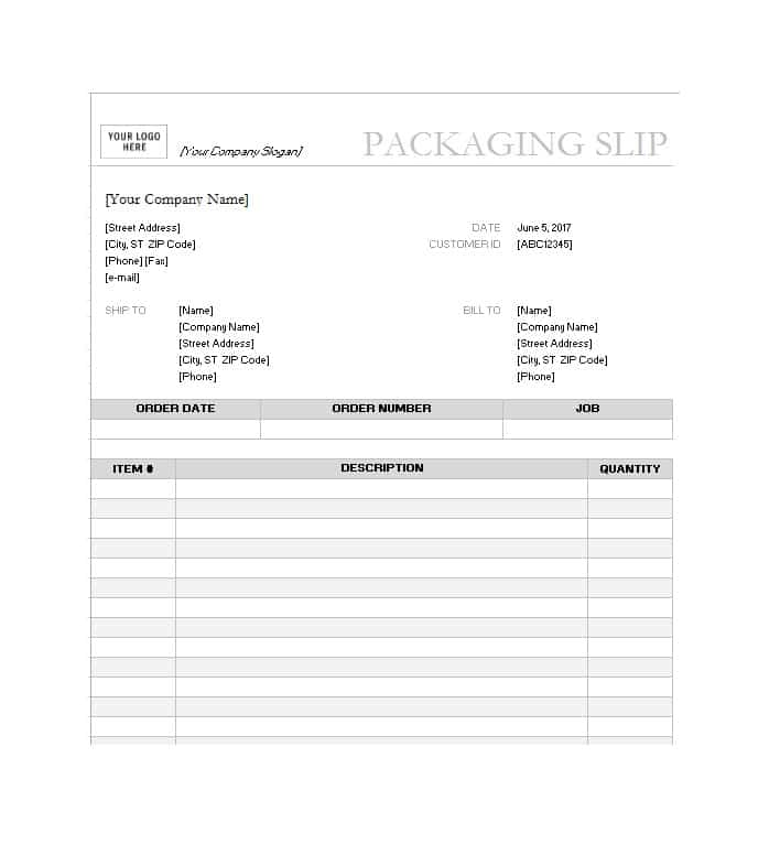 10+ Packing Slip Examples - DOC, XLS | Examples