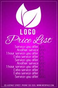 spa price list printable template1