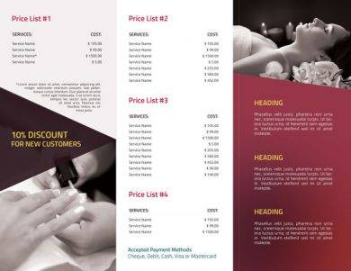 spa price list template1