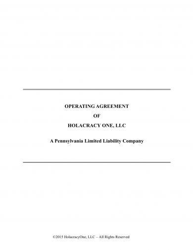 specific llc operating agreement example1