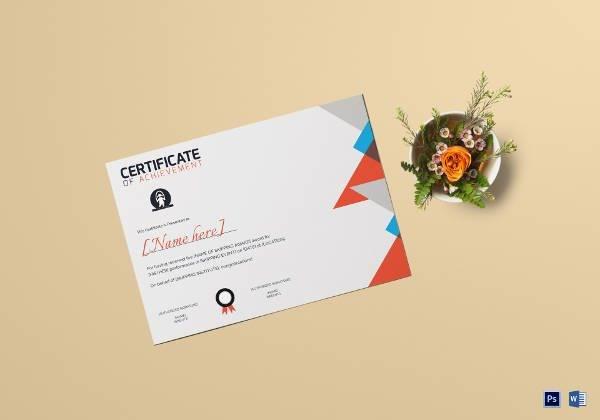 sports skipping award achievement certificate