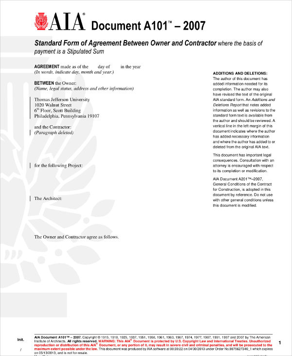 14 Contractor Agreement Examples Pdf Word
