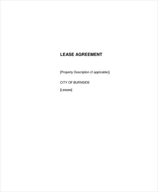 Lease Agreement Example Goalblockety