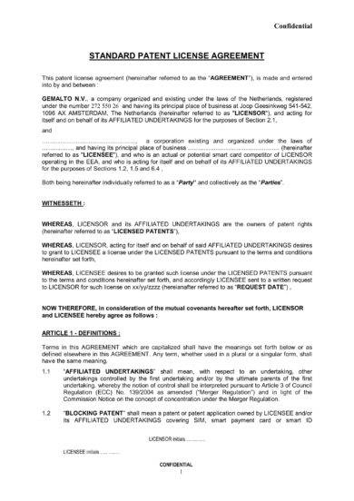 10 Patent License Agreement Examples Pdf Word Examples