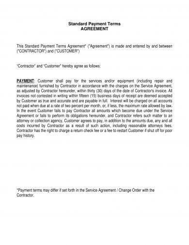 14 Agreement Letter For Payment Examples Pdf Doc