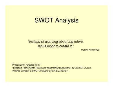 standard swot analysis guidelines and example