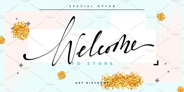 store welcome banner example1