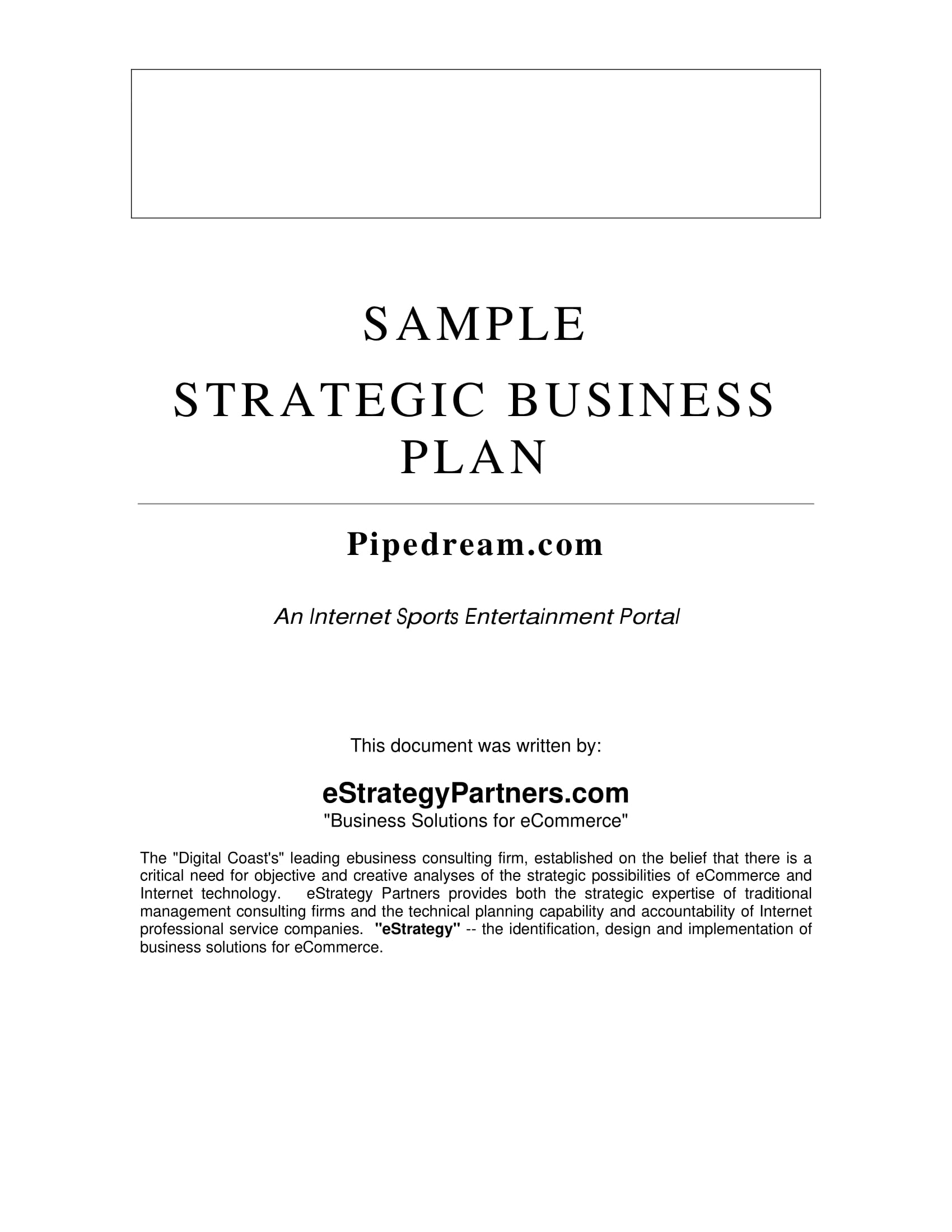 Business development strategy plan template