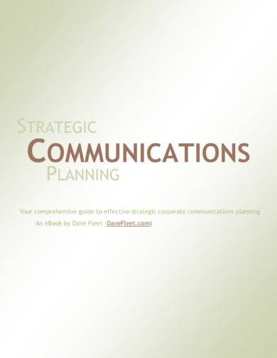 strategic communications planning example